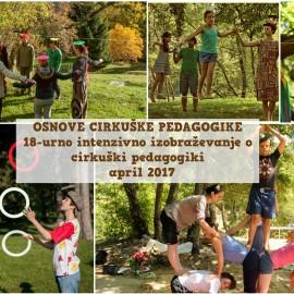 Vabilo na izobraževaje Osnove cirkuške pedagogike, april 2017